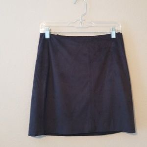 J. Crew Factory Navy Suede Miniskirt size 2
